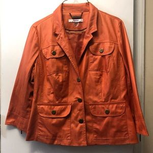 Womens orange jacket/blazer. Size 6